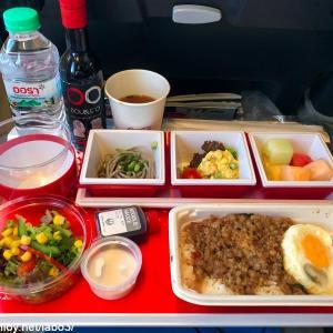 【Inflight meal 】JL 日本航空 JL32 バンコク ー 羽田 BKK – HND エコノミークラス機内食 2018 Oct