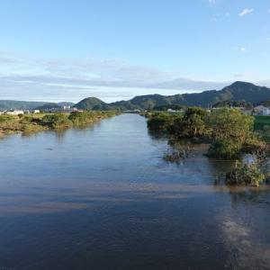 台風19号通過後の河川