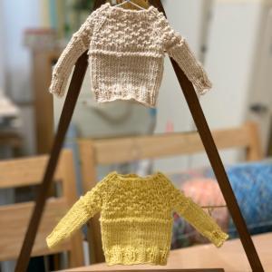 ミニチュアセーターがかわいい‼️