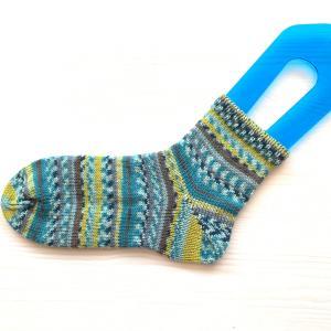 編み機で編んだ靴下緑シリーズ