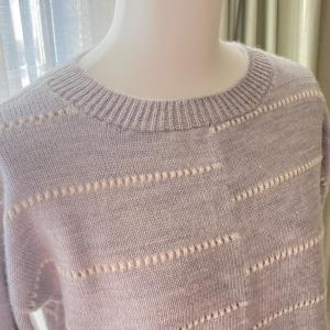 機械編みのセーターが完成しました❣️