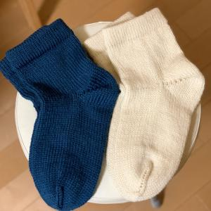 シンプルな毛糸の靴下❣️