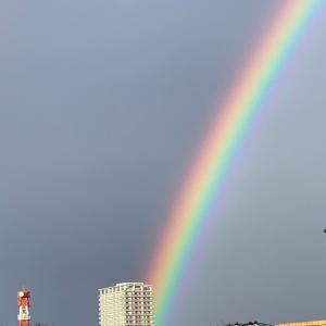虹が出たね❣️