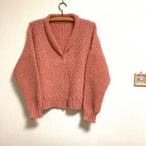 手編みのカーディガン完成❣️