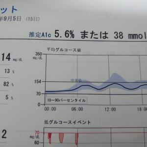GLP-1 先月今月の体重の結果と、推定HbA1cに、最高記録です!!!