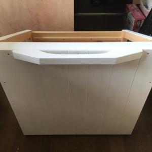 オーブンレンジとオーブントースターも置ける棚の作成(台車製作編)