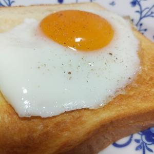 モーニングの目玉焼きトースト