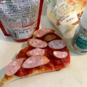 リメイク?ピザの朝食