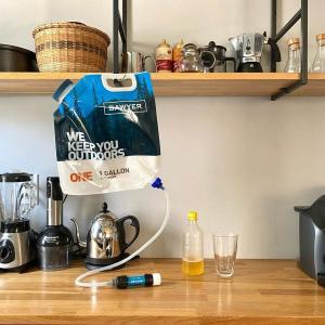 ソーヤーの携帯浄水器で安全な水を手に入れる実験【わが家の防災】
