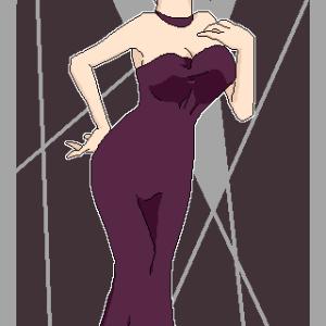 ドレスさん・おだんごヘア