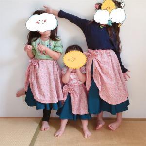 子供たちにスカートを縫ってみる。サーキュラースカートって言うらしいですよ☆