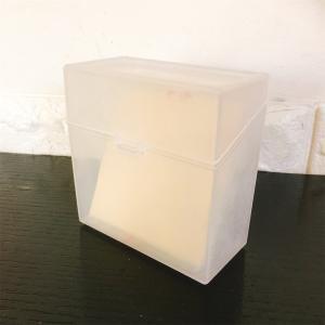 【セリア】スライスチーズケースで子どもの薬を整理