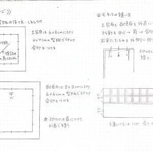 パフのカゴの型紙と作図