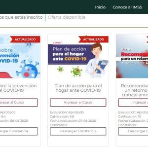 メキシコ保健庁が実施するコロナ予防のオンライン無料講習を受けてみた。
