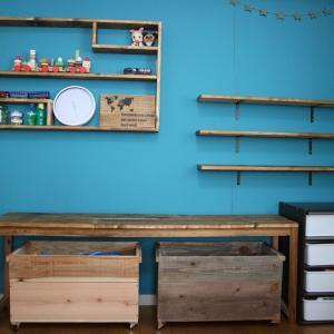 子供部屋改造!壁面に棚をつけておもちゃを楽々収納~