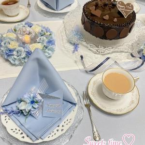 記念日のチョコレートケーキ♪