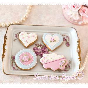 ローズのアイシングクッキー♪レッスンレポ☆