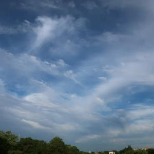 我が街中歩・絹層雲と絹雲が主体となる綺麗な空模様