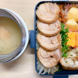 鶏チャーシュー丼弁当(*^▽^*)お弁当おかずでメインおかず♪