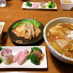 けんちんうどんの夜ごはん(*^▽^*)からの、お弁当にスライド♪