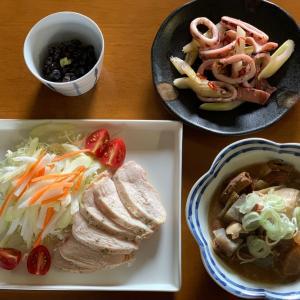 イカとセロリのガーリック炒め(*^▽^*)おとうちゃんを痩せさせます!