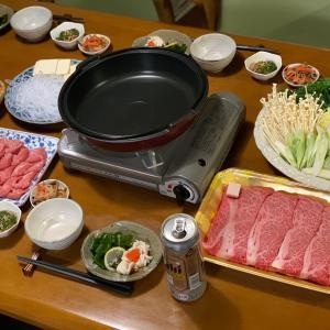 牛鍋(*^▽^*)山形の牛肉うんまいね〜♪