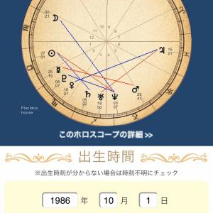 神田沙也加さんのホロスコープが気になったので