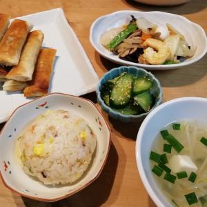 炊き込みチャーハンと八宝菜