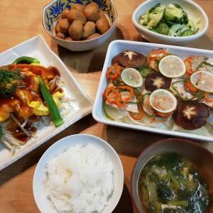 里芋の煮物&鮭の包み焼きの献立