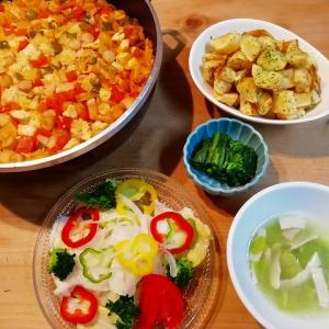 実家からのお野菜便&ジャンバラヤ