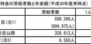 平成30年度国民年金基金、受給者数と年金額~