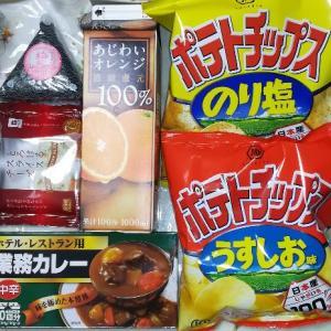 お買い物、業務カレー10皿分108円