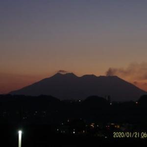 2020年01月21日、朝の桜島