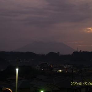 2020年01月22日、朝の桜島