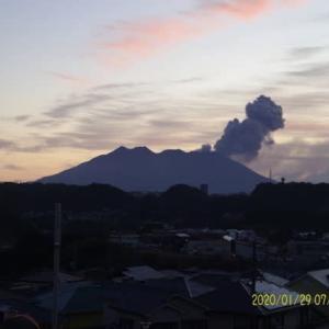 2020年01月29日、朝の桜島