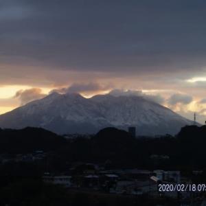 2020年02月18日、朝の桜島