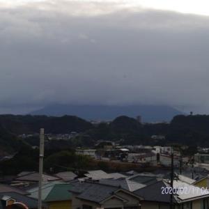 2020年02月17日、朝の桜島 など