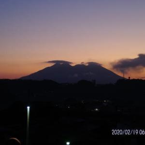 2020年02月19日、朝の桜島