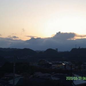 2020年03月29日、朝の桜島