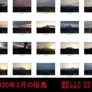 2020年03月 今月の朝の桜島