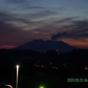 2020年05月21日、朝の桜島