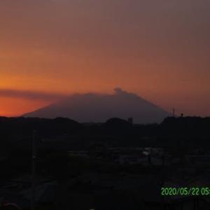 2020年05月22日、朝の桜島