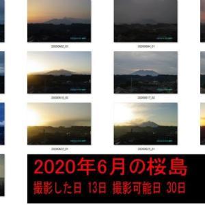 2020年06月朝の桜島