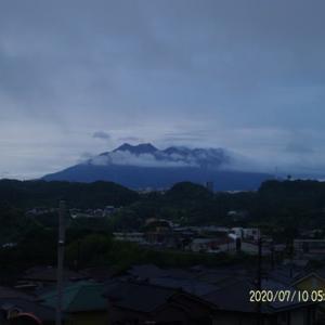 2020年07月10日、朝の桜島