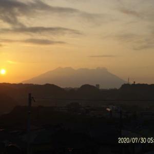 2020年07月30日、朝の桜島