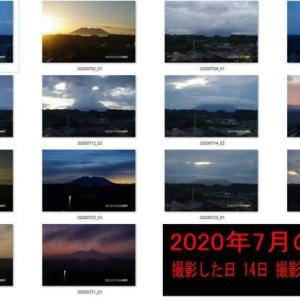 7月の今月の桜島