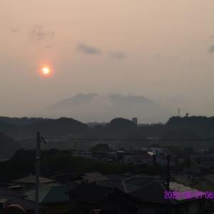 2020年08月07日、朝の桜島