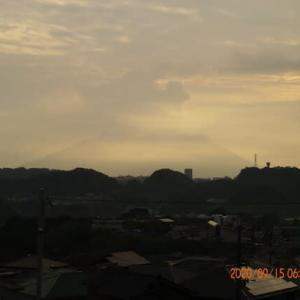 2020年09月15日、朝の桜島