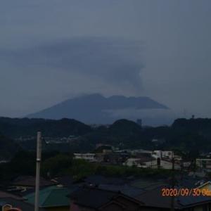 2020年09月30日、朝の桜島