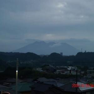 2020年10月23日、朝の桜島